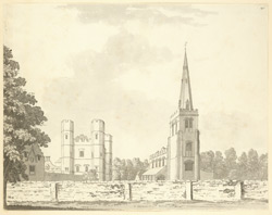 Buckden church and Bishop's palace